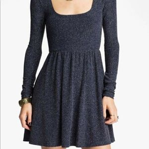Free People Blue and Silver Dress